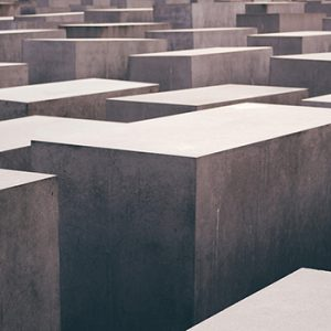Photograph of cement blocks