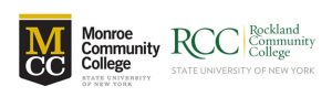 Monroe and Rockland Community College logos